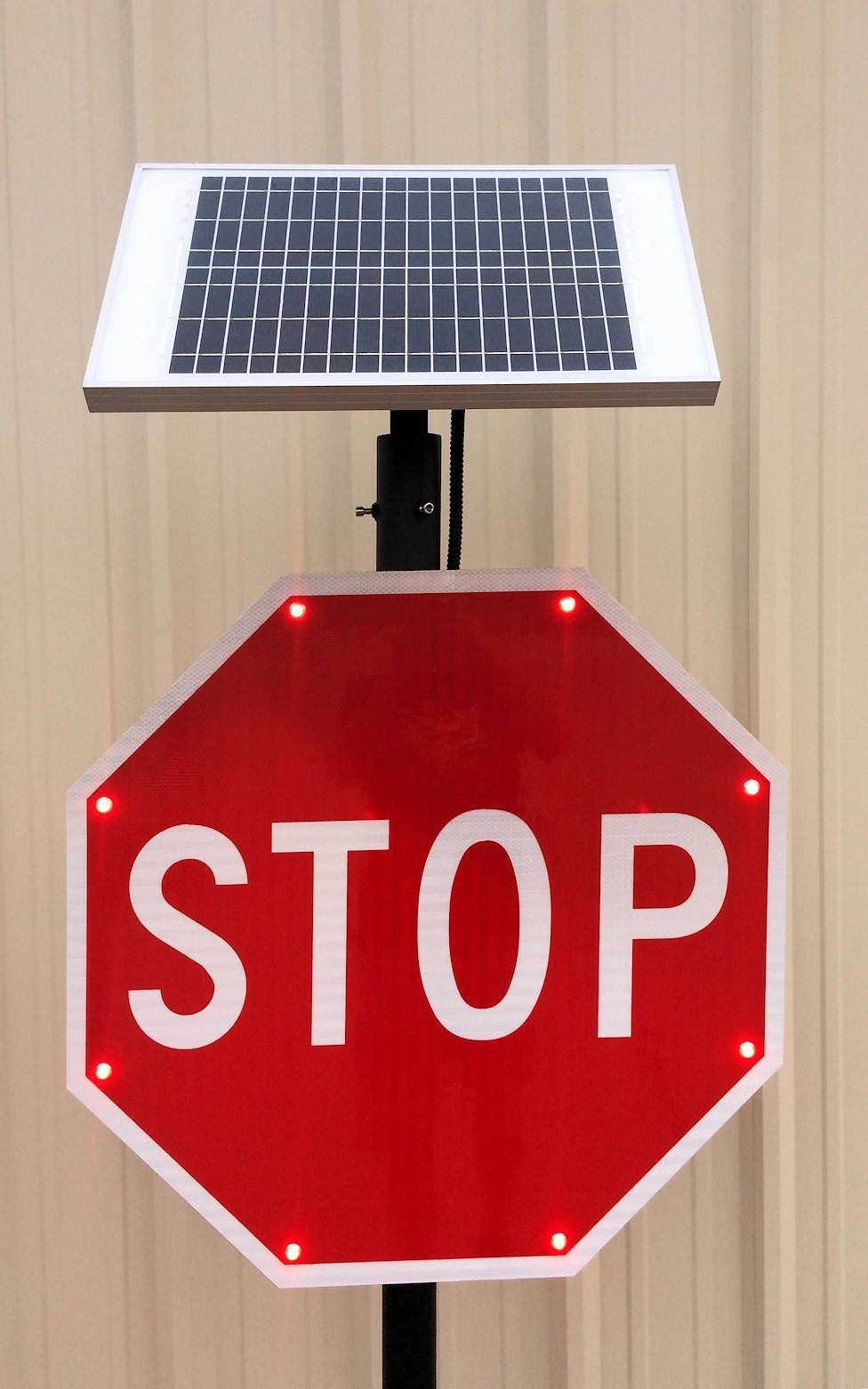 Solar Powered Led Stop Sign