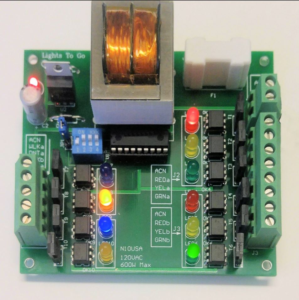 4 Way Traffic Control Led Light Circuit N10 Controller