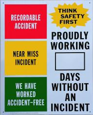 Aluminum Safety Sign
